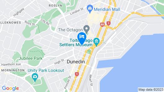 Scenic Hotel Dunedin City Map