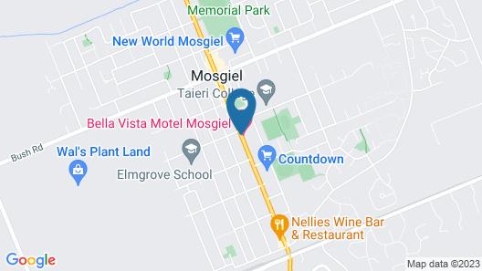 Bella Vista Motel Mosgiel Map