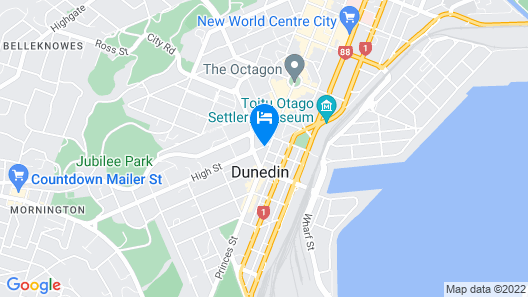 Scenic Hotel Southern Cross Map