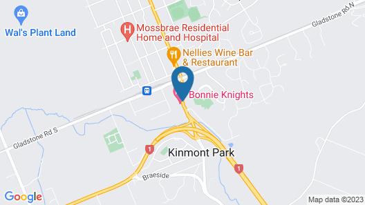 Bonnie Knights Motel Map
