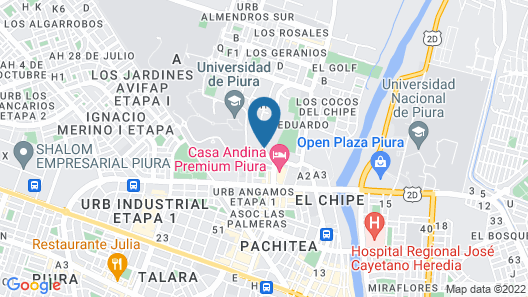 El Angolo Hotel Piura Map