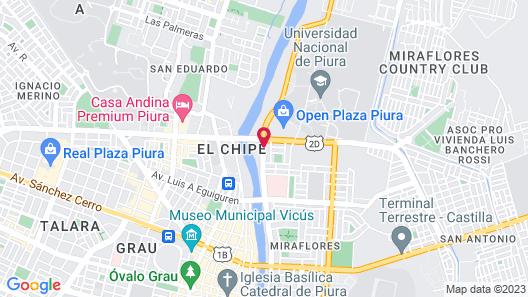 Rivera del Rio Hotel Map