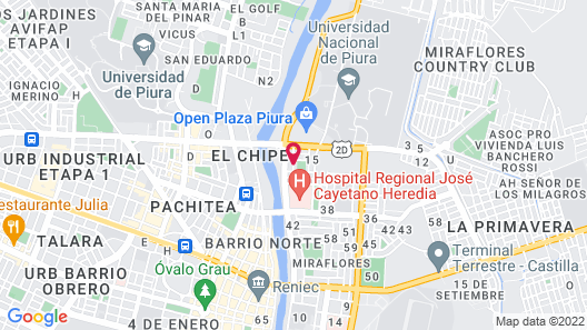Hospedaje Miraflores Map