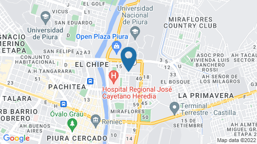 Casa Hotel Miraflores Map