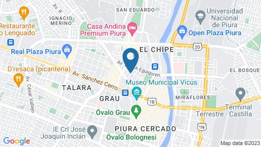 Hostal Bulevar Map