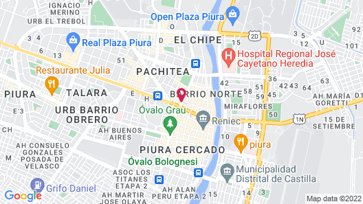 Hoteles Bayovar Map