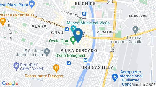Hotel Hispano Map