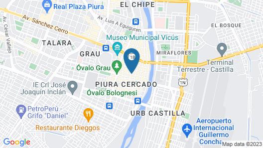 Intiotel Piura Map