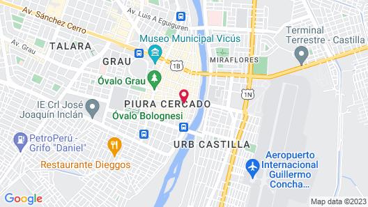 LP Los Portales Hotel Piura Map