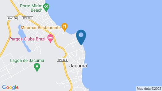 Casa das Cores ao mar Jacumã RN Map