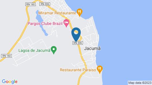 Mansão felicidade pé na areia Jacumã RN Map
