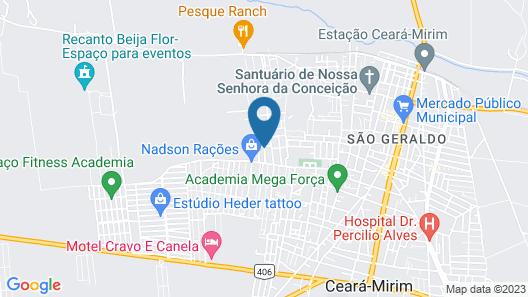 Tranquila espaçosa casa em Porto Mirim Map