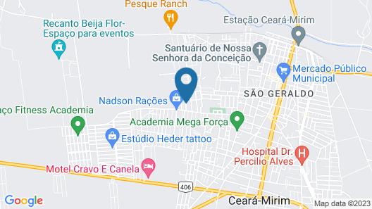 Mansão beira mar há 43 minutos de Natal Map