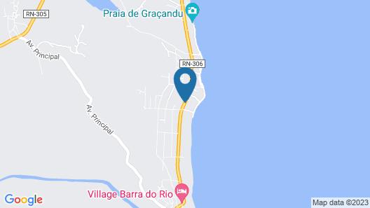 Casa Beira Mar com Decoração Tropical Map