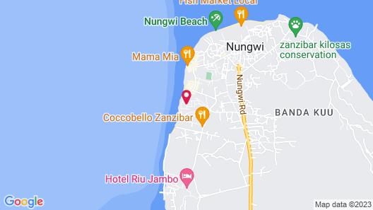 Sandies Baobab Beach Zanzibar Map
