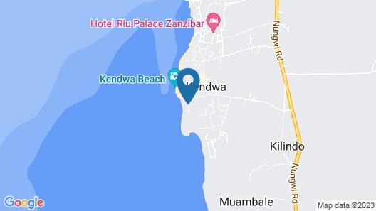 Sunseabar Beach Hotel Kendwa Map