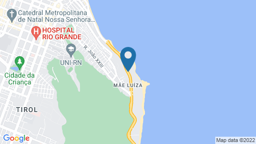 Hotel Senac Barreira Roxa Map