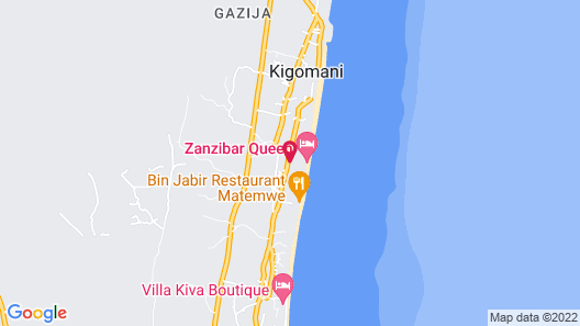 Zanzibar Queen Hotel Map