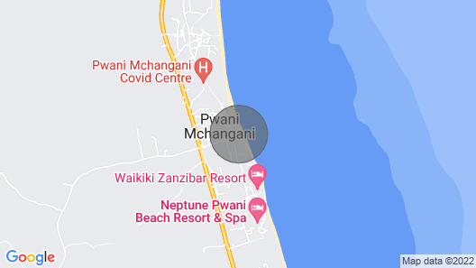 6 bedroom private villa on the beach Map