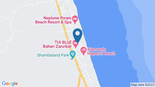 Neptune Pwani Beach Resort & Spa Map
