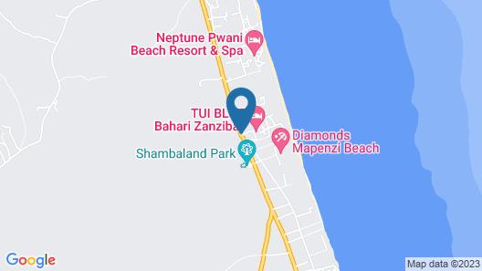 TUI Blue Bahari Zanzibar  Map