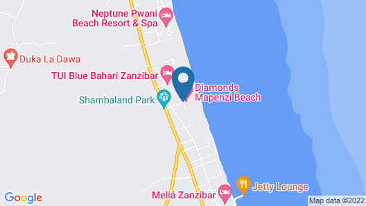 Diamonds Mapenzi Beach - All Inclusive Map