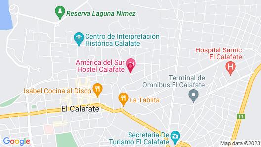 America del Sur Hostel El Calafate Map