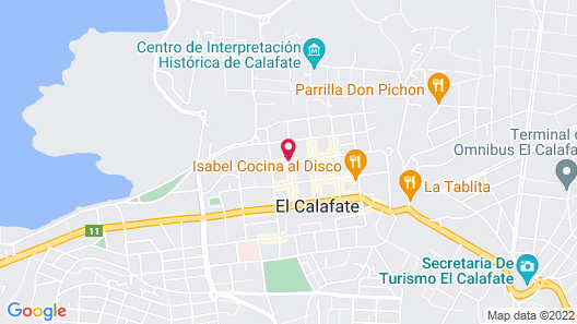 Calafate Hostel Map