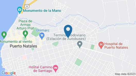 Esmeralda House Puerto Natales Map
