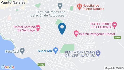 Departamentos Patagonia Map