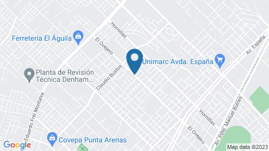 Cabaña simple en Punta Arenas Map