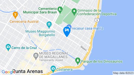Cabañas Ariskaiken Map