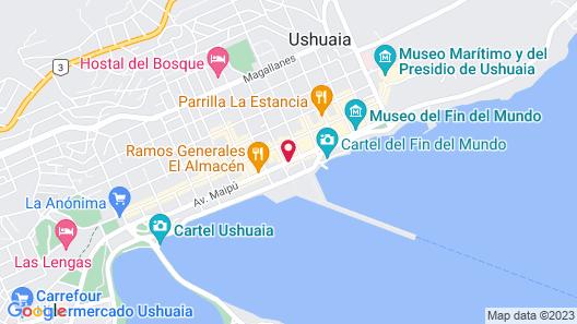 Hotel Canal Beagle Map