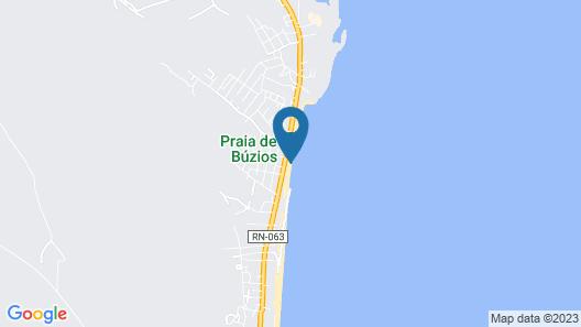 Casa na praia de Búzios RN Map
