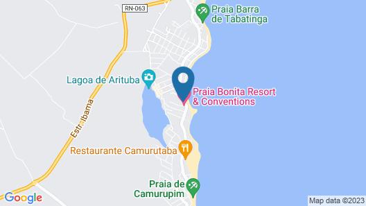 Espaçoso apto com cobertura em Tabatinga Map