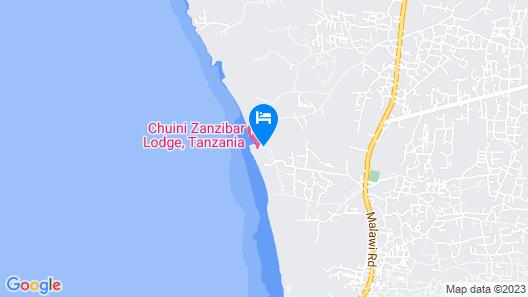 Chuini Zanzibar Beach Lodge Map