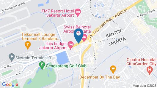 Orchardz Hotel Bandara Jakarta Map