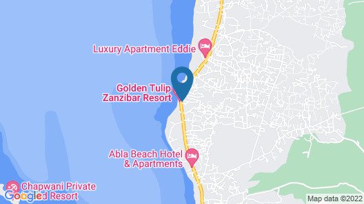 Golden Tulip Zanzibar Resort Map