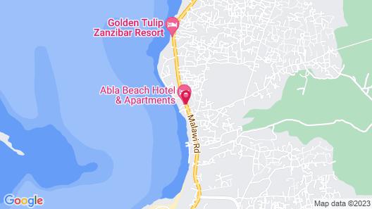 Abla Beach Apartments Map