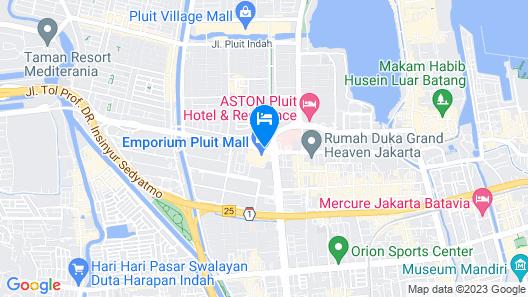 favehotel Pluit Junction Map