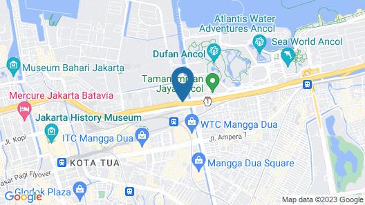 Grand Dafam Ancol Jakarta Map