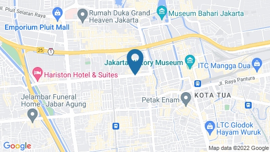 Nite & Day Jakarta - Bandengan Map