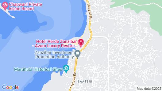 Hotel Verde Zanzibar - Azam Luxury Resort and Spa Map