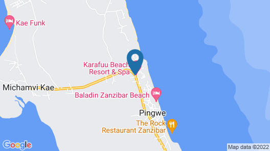Karafuu Beach Resort & Spa Map