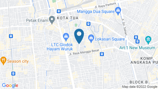 ZEN Rooms Basic Mangga Besar 5 Map