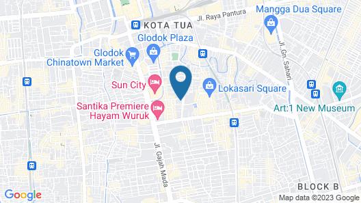 Belvena Hotel Map