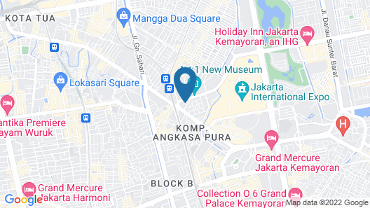 Grand Orchardz Hotel Rajawali Kemayoran Map