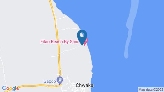 Filao Beach Zanzibar Map