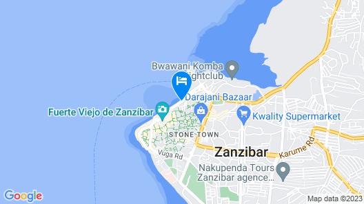 Mizingani Seafront Hotel Map