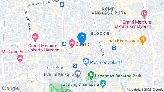 favehotel Pasar Baru Map